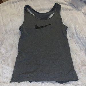 Nike grey racer back workout tank top size XS